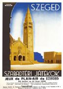 French travel poster advertising szeged szabadtéri játékok jeux de plein-air de szeged in Hungary 1938